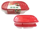 24 Units of 2pc 2-Section Food Container - Food Storage Bags & Containers