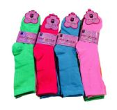 36 Units of Three Pair Ladies Crew Sock Solid Neon Colors - Womens Crew Sock