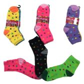 96 Units of Ladies Teens Quarter Socks Confetti - Womens Ankle Sock