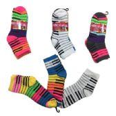 36 Units of Three Pair Ladies Teens Quarter Piano - Womens Ankle Sock