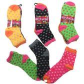36 Units of Three Pair Ladies Teens Quarter Polka Dot - Womens Ankle Sock
