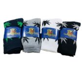 36 Units of Mens Crew Socks Marijuana Leaves - Mens Crew Socks