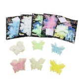 120 Units of Glow In The Dark Butterfly Wall Decal - Light Up Toys