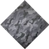 12 Units of Bandana Black And Gray Camo - Bandanas