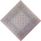 12 Units of Bandana Blush Pink Paisley - Bandanas