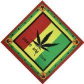 12 Units of Bandana Large Leaf Peace And Love - Bandanas