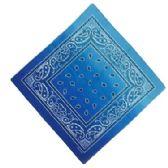 120 Units of Bandana Paisley Fade Blue - Bandanas