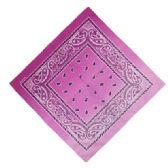 36 Units of Bandana Paisley Fade Pink - Bandanas