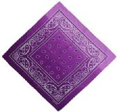 36 Units of Bandana Paisley Fade Purple - Bandanas