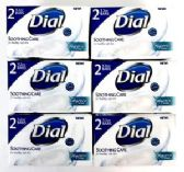 120 Units of 2 Pack 3.2 oz Dial Soothing Care Bar Soap Shipped by Pallet - Soap & Body Wash