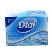 120 Units of 2 Pack 3.2 oz Dial Spring Water Bar Soap Shipped by Pallet - Soap & Body Wash