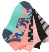 60 Units of Women's no show ankle socks in size 9-11 - Womens Ankle Sock