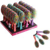96 Units of Beauty Hair Rainbow Brush Rack - Hair Brushes & Combs