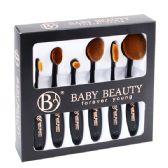 48 Units of 6 Piece Black Cosmetic Brush Set - Cosmetics