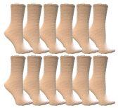 60 Units of Yacht & Smith Women's Fuzzy Snuggle Socks White, Size 9-11 - Womens Fuzzy Socks