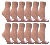 60 Units of Yacht & Smith Women's Fuzzy Snuggle Socks Lilac, Size 9-11 Comfort Socks - Womens Fuzzy Socks