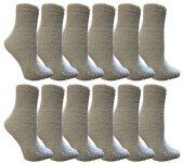 60 Units of Yacht & Smith Women's Fuzzy Snuggle Socks Light Blue, Size 9-11 Comfort Socks - Womens Fuzzy Socks