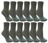 60 Units of Yacht & Smith Women's Fuzzy Snuggle Socks Teal, Size 9-11 Comfort Socks - Womens Fuzzy Socks