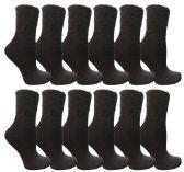 60 Units of Womens Fuzzy Snuggle Socks Black, Size 9-11 Comfort Socks - Womens Fuzzy Socks