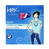 48 Units of 20 Piece Kotex Soft & Smooth Maxi Plus Pad - Personal Care Items