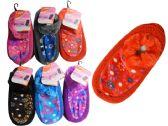 144 Units of WOMEN SLIPPER W/RUBBER DOTS - Girls Slippers