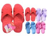 48 Units of Ladies Assorted Color Shower Slipper - Women's Slippers