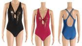 24 Units of Womens 1 Piece Bathing Suite Assorted Colors - Womens Swimwear