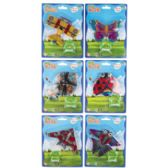 48 Units of Kite Mini Planes/insect Designs 6ast On 12pc Mdsgstrip/string 5m - Summer Toys
