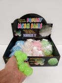96 Units of SQUISHY MESH BALL GLOW IN THE DARK - Slime & Squishees