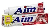 240 Units of Aim Cinna Mint Cavity Toothpaste Shipped by Pallet - Toothbrushes and Toothpaste