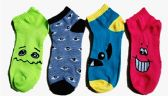 60 Units of Womens Junior Girls Printed Ankle Socks Size 9-11 Smiley Faces Emoji - Womens Ankle Sock
