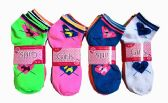 60 Units of Girls Printed Ankle Socks Size 6-8 Hearts - Girls Ankle Sock