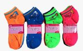 60 Units of Girls Printed Ankle Socks Size 6-8 - Girls Ankle Sock