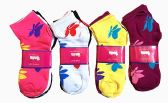 60 Units of Womens Junior Girls Printed Ankle Socks Size 9-11 Butter Fly Printed Socks - Womens Ankle Sock