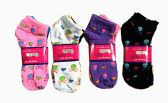 60 Units of Womens Junior Girls Printed Ankle Socks Size 9-11 Hearts And Skulls Printed Socks - Womens Ankle Sock