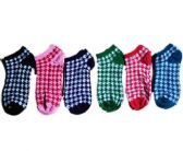 60 Units of Womens Junior Girls Printed Ankle Socks Size 9-11 Gingham Printed Socks - Womens Ankle Sock