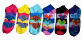60 Units of Womens Junior Girls Printed Ankle Socks Size 9-11 Digital Heart Printed Socks - Womens Ankle Sock