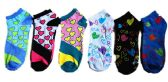 60 Units of Womens Junior Girls Printed Ankle Socks Size 9-11 Heart Printed Socks - Womens Ankle Sock