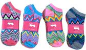 60 Units of Womens Junior Girls Printed Ankle Socks Size 9-11 Aztec Print - Womens Ankle Sock