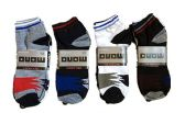 60 Units of Mens Light Weight Ankle Socks, Printed Performance Athletic Socks Size 10-13 - Mens Ankle Sock