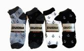 60 Units of Mens Light Weight Ankle Socks, Printed Performance Athletic Socks Size 10-13 Anchor Printed Socks - Mens Ankle Sock