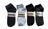 60 Units of Mens Light Weight Ankle Socks, Printed Performance Athletic Socks Size 10-13 Striped Printed Socks - Mens Ankle Sock