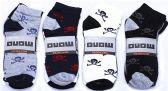 60 Units of Mens Light Weight Ankle Socks, Printed Performance Athletic Socks Size 10-13 Skull Printed Socks - Mens Ankle Sock