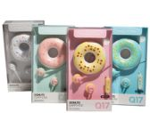 24 Units of Donut Earbud Headphones in 4 Assorted Colors - Headphones and Earbuds