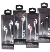 24 Units of Fashion Headphone Earbuds in 4 Assorted Colors - Headphones and Earbuds