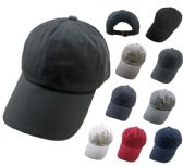 36 Units of 100% Cotton Ball Cap [Assortment] - Baseball Caps & Snap Backs