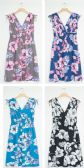 24 Units of Plus Floral Tie Shoulder Midi Dress Assorted - Womens Sundresses & Fashion