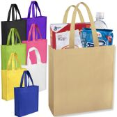 100 Units of 10 x 9 Gift Tote Bag Assorted Colors - Tote Bags & Slings