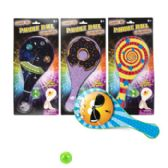 24 Units of Paddle Ball W/light Up Function 10inx4.75in 4ast Prints Blstcrd - Summer Toys