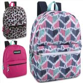 24 Units of Trailmaker Classic 17 Inch Backpack - Girls Assortment - Backpacks 17""